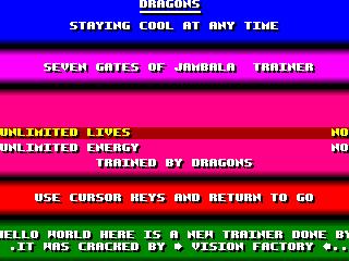 Dragons – Seven Gates of Jambala