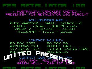 Australian crackers united – F29 Retaliator