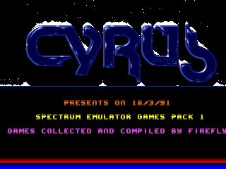 Cyrus – Spectrum Emulator