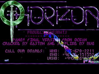 Horizon – Pang