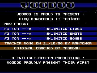 Voodoo – Rick Dangerous 2