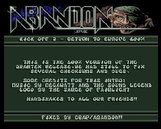 Abandon – Kick off 2